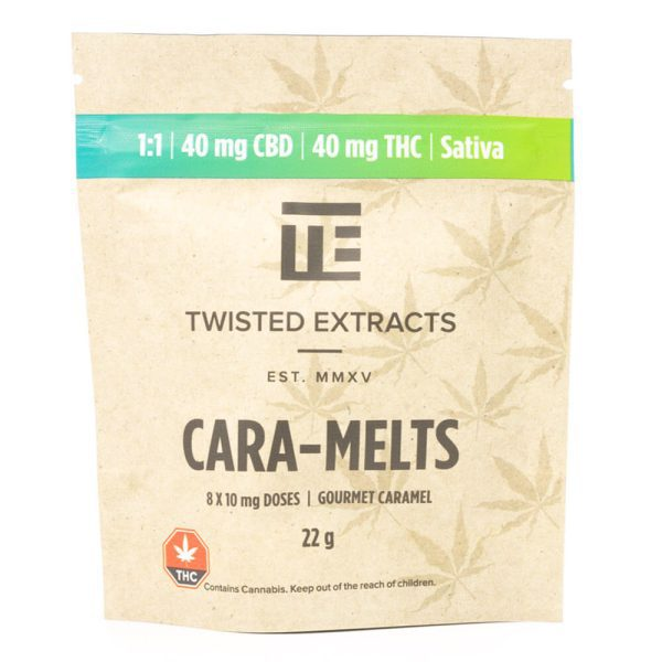 Buy Sativa 1:1 Cara-Melts 40mg THC: 40mg CBD = 80mg By Twisted Extract
