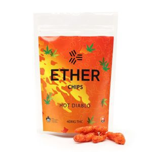 buy Hot Diablo Chips 40MG By Ether Edibles