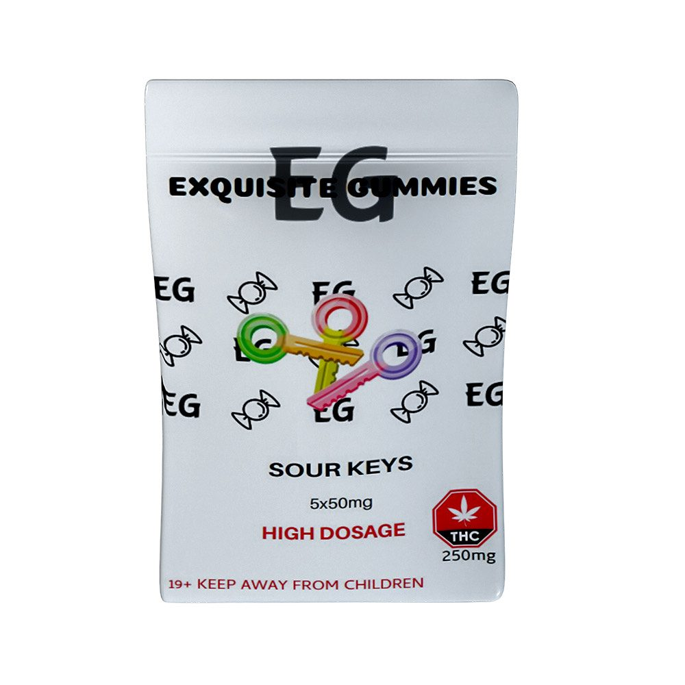 Sour Keys 250mg THC By Exquisite Gummies