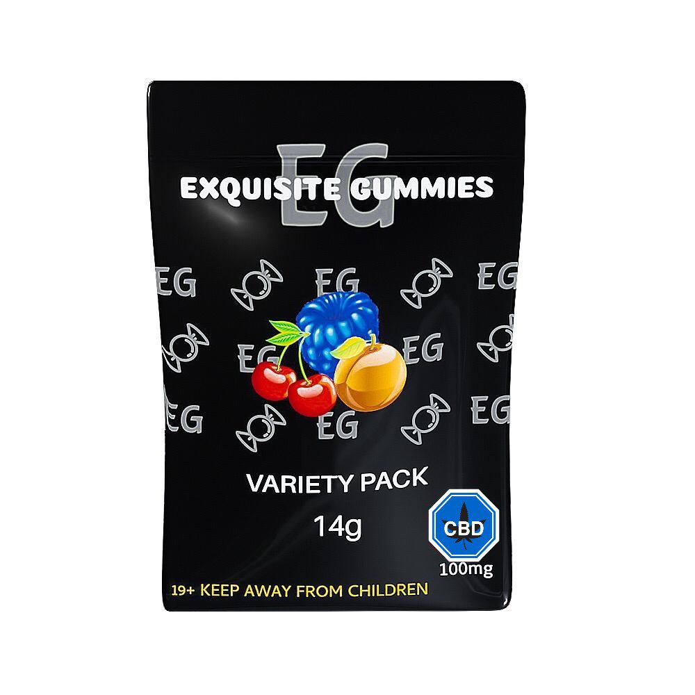 Variety Pack 100mg CBD By Exquisite Gummies