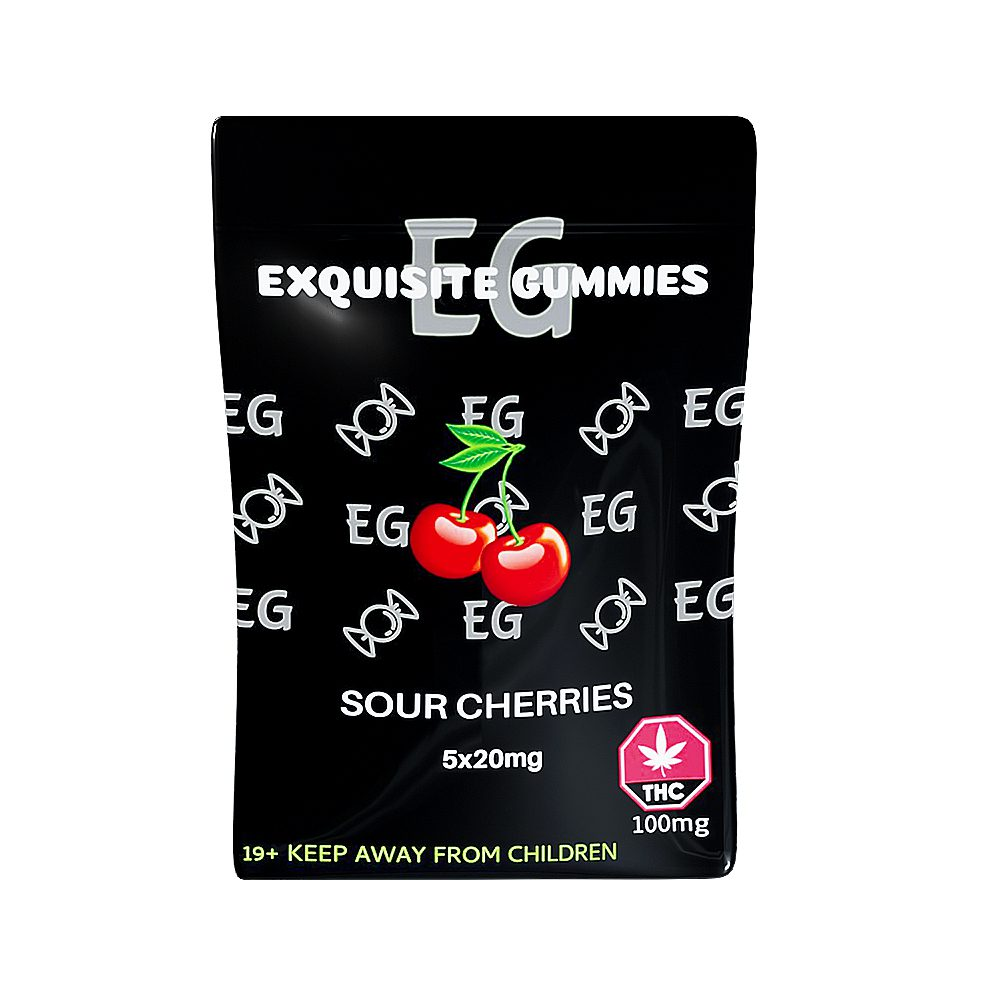 Sour Cherry 100mg THC By Exquisite Gummies
