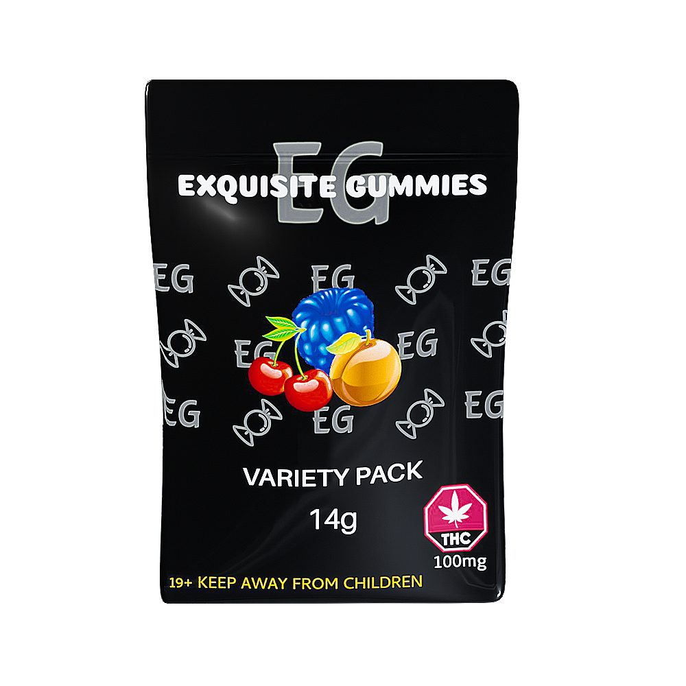 Variety Pack 100mg THC By Exquisite Gummies