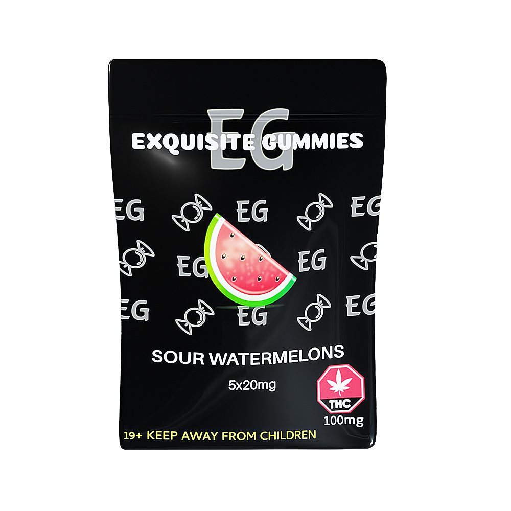 Sour Watermelon 100mg THC By Exquisite Gummies